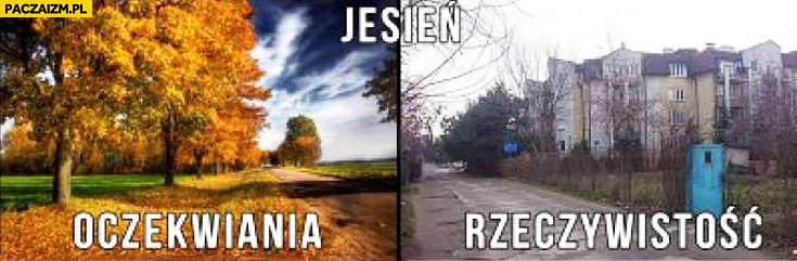 Jesień oczekiwania vs rzeczywistość porównanie