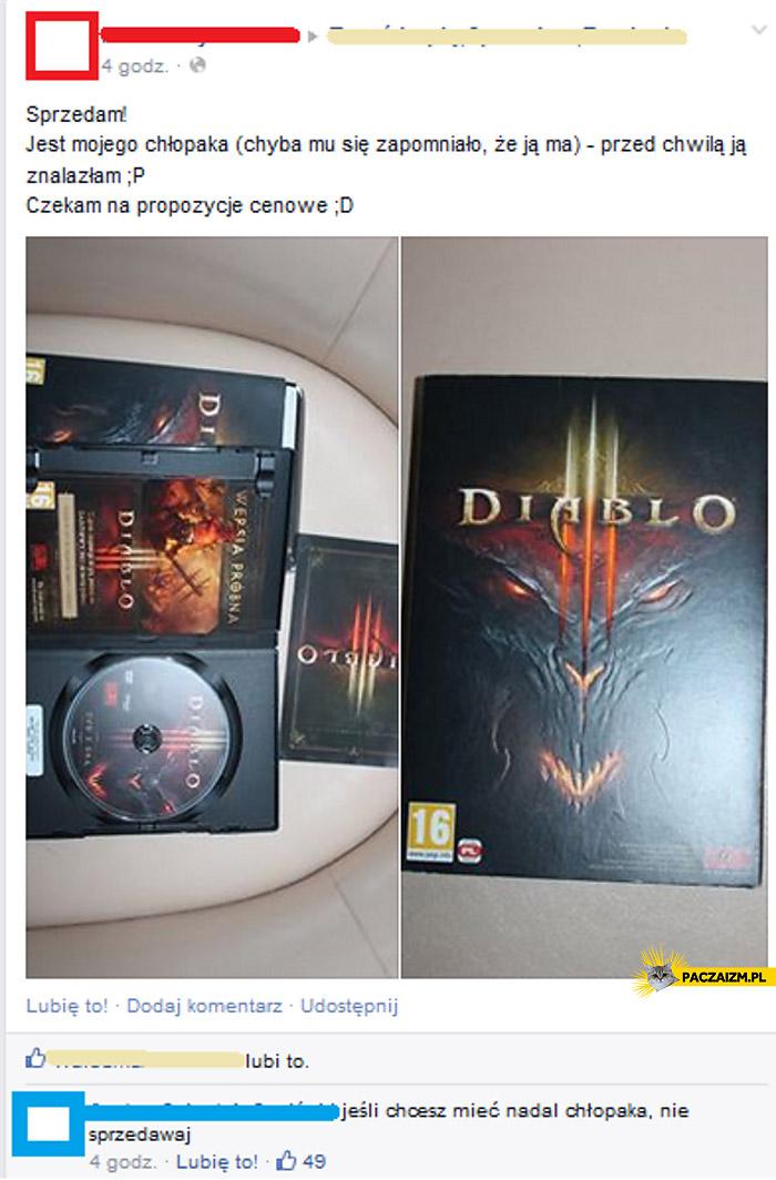 Jeśli chcesz mieć nadal chłopaka nie sprzedawaj Diablo III 3