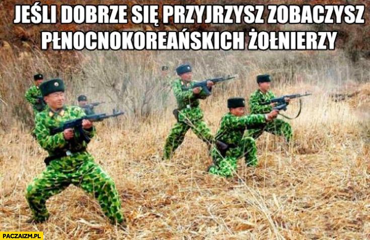 Jeśli dobrze się przyjrzysz zobaczysz północnokoreańskich żołnierzy