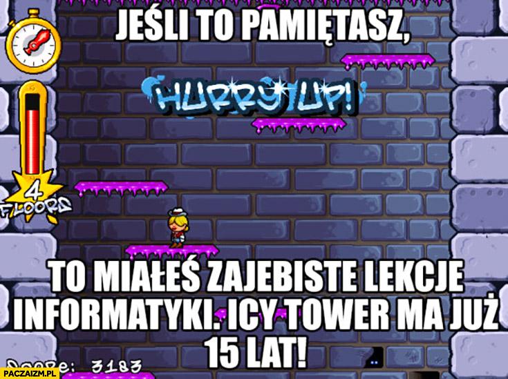 Jeśli to pamiętasz to miałeś zajebiste lekcje informatyki Icy Tower ma już 15 lat