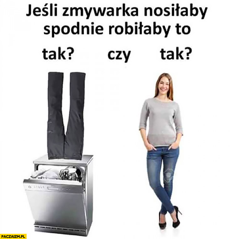 Jeśli zmywarka nosiłaby spodnie robiłaby to tak czy tak kobieta