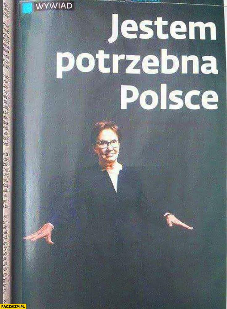 Jestem potrzebna Polsce Ewa Kopacz wywiad artykuł