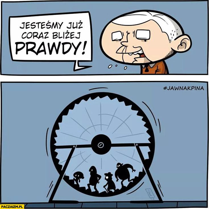 Jesteśmy coraz bliżej prawdy kręcą się w kołowrotku PiS Kaczyński