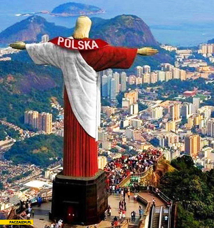 Jezus Rio de Janeiro polski szalik
