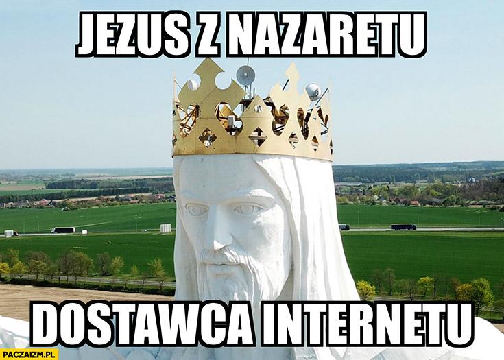 Jezus z Nazaretu dostawca internetu pomnik Jezusa w Świebodzinie