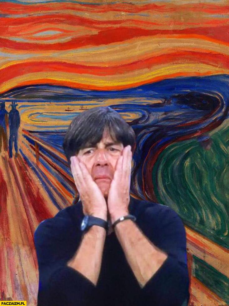 Joachim Loew obraz krzyk Edvard Munch mecz Francja Niemcy