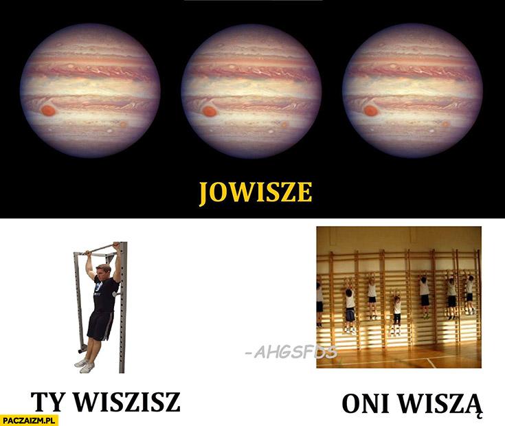 Jowisze, Ty wisisz, oni wiszą planeta Jowisz ahgsfds