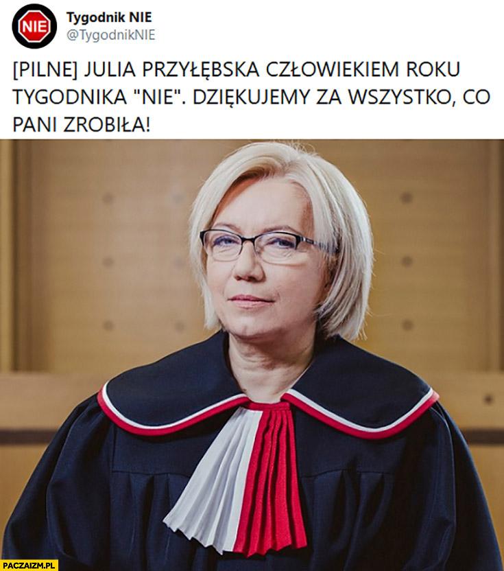 Julia Przyłębska człowiekiem roku tygodnika nie