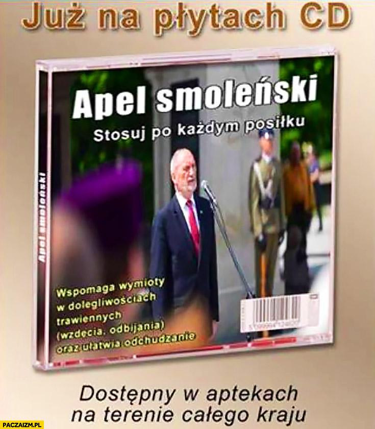 Już na płytach CD Apel Smoleński. Stosuj po każdym posiłku, dostępny w aptekach Macierewicz