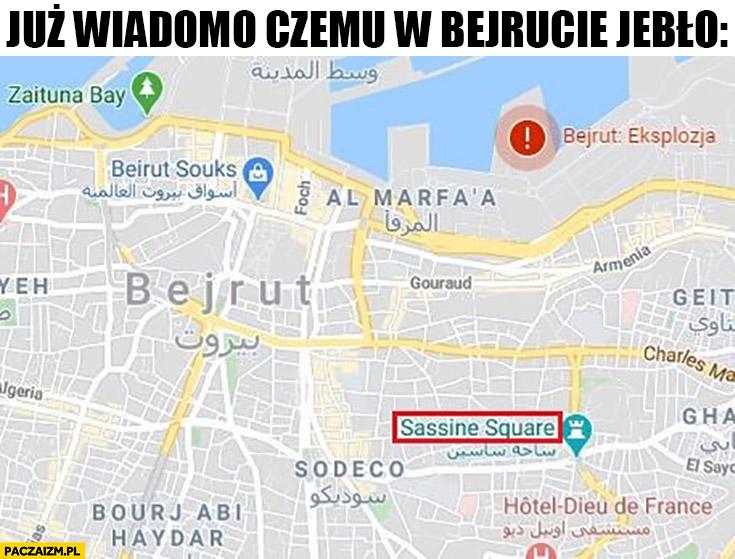 Już wiadomo czemu w Bejrucie jebło Sassine Square plac Sasina