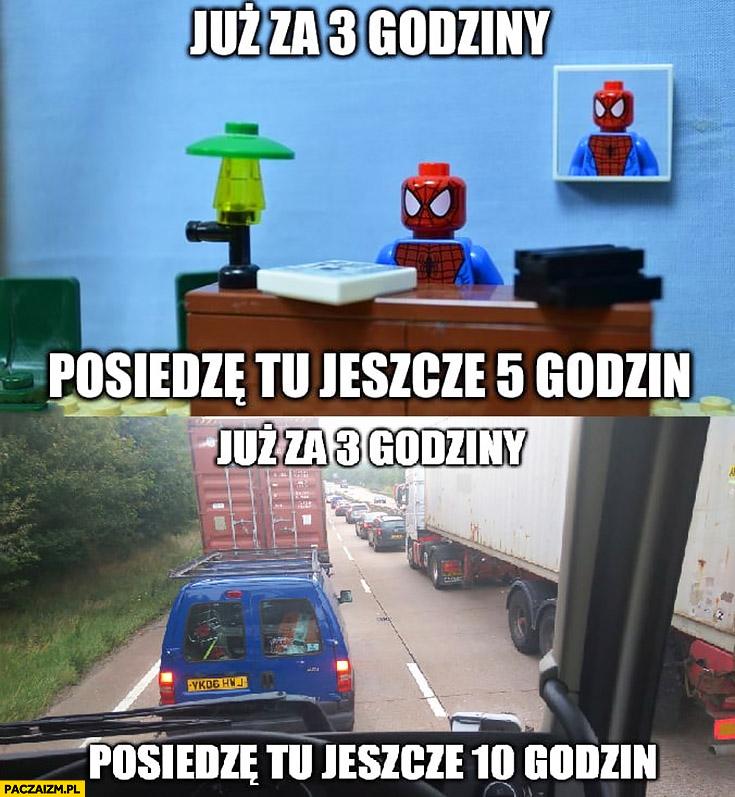 Już za 3 godziny posiedzę tu 5 godzin Spiderman Lego, jeszcze 10 godzin TIRowiec kierowca TIRa