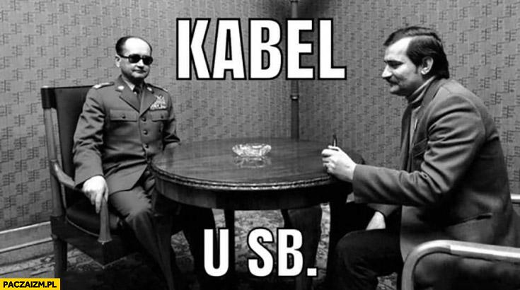 Kabel u SB USB Wałęsa Jaruzelski dosłownie