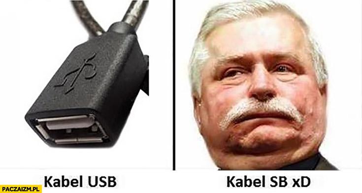 Kabel USB, kabel SB Lech Wałęsa Bolek