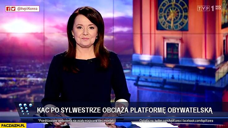 Kac po sylwestrze obciąża Platformę Obywatelską Wiadomosci TVP