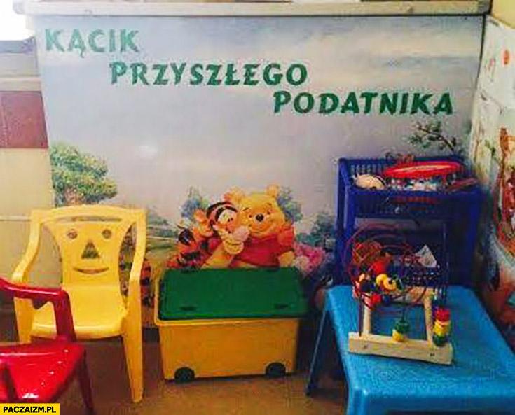 Kącik przyszłego podatnika dziecięcy dla dzieci Urząd Skarbowy