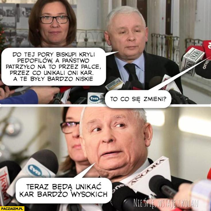 Kaczyński biskupi unikali bardzo niskich kar za pedofilię, to się zmieni teraz będą unikać kar bardzo wysokich