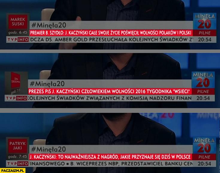 Kaczyński człowiekiem wolności 2016 nagroda wSieci cytaty TVP Info