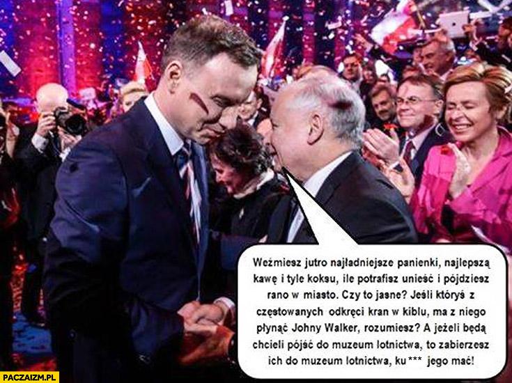 Kaczyński Duda muzeum lotnictwa chłopaki nie płaczą cytat