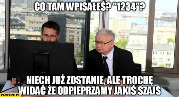 Kaczyński Fogiel liczba zachorowań co tam wpisałeś 1234 niech już zostanie ale trochę widać, że odwalamy jakiś szajs