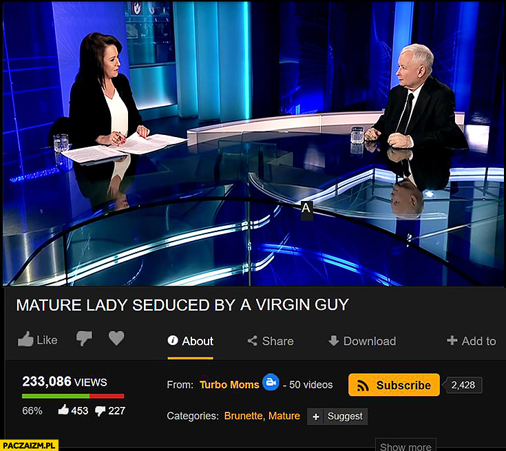 Kaczyński Holecka wywiad TVP pornhub: Mature lady seduced by a virgin guy
