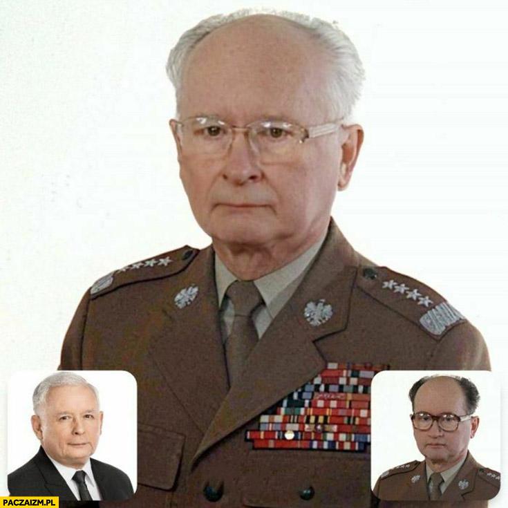 Kaczyński Jaruzelski face swap faceapp przeróbka
