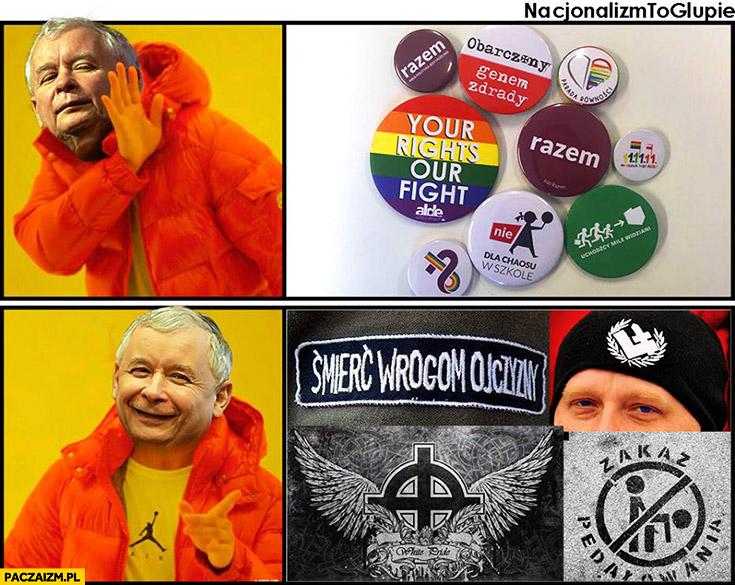 Kaczyński lewactwo nie, śmierć wrogom ojczyzny ONR tak Drake przeróbka