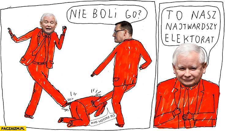 Kaczyński Morawiecki nie boli go? To nasz najtwardszy elektorat
