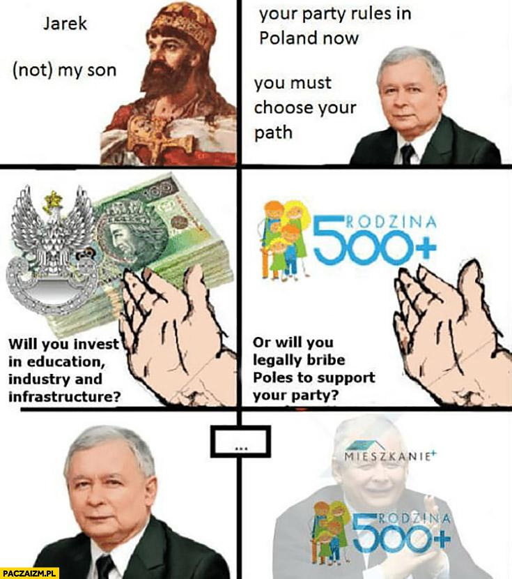 Kaczyński musisz wybrać zainwestujesz w edukację, przemysł, infrastrukturę czy przekupisz wyborców 500 plus?