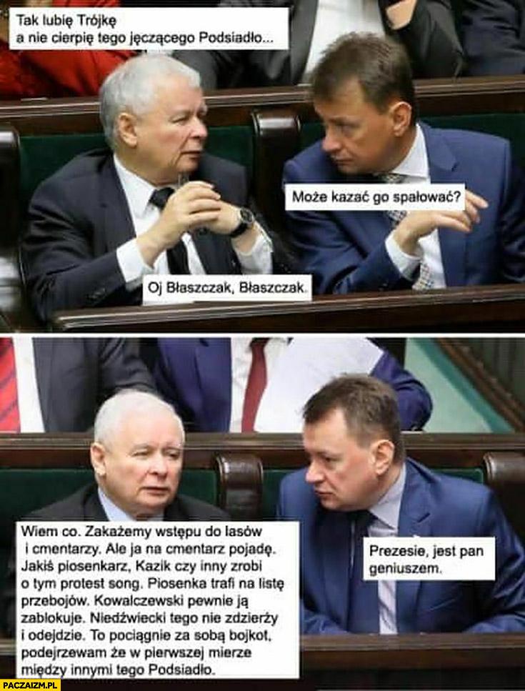 Kaczyński nie cierpię tego Podsiadło wymyślił plan Błaszak prezesie jest pan geniuszem