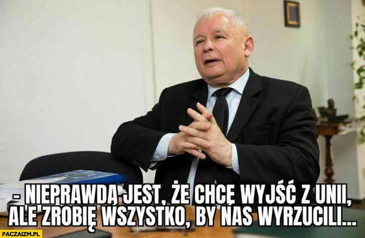 Kaczyński nieprawda jest ze chce wyjść z unii ale zrobię wszystko by nas wyrzucili