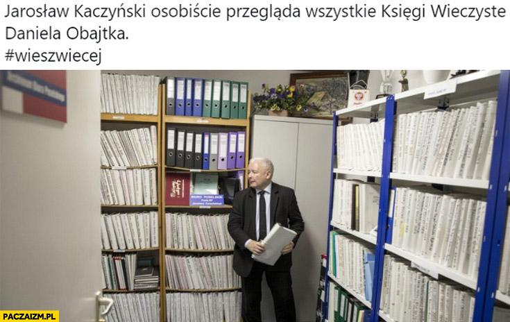 Kaczyński osobiście przegląda wszystkie księgi wieczyste Daniela Obajtka archiwum kartoteki