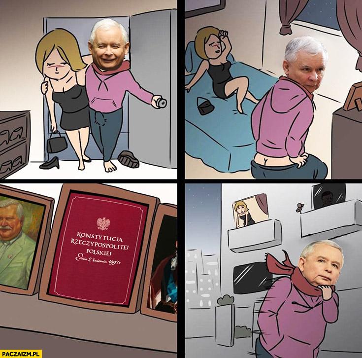 Kaczyński przychodzi do panny widzi konstytucję i wychodzi
