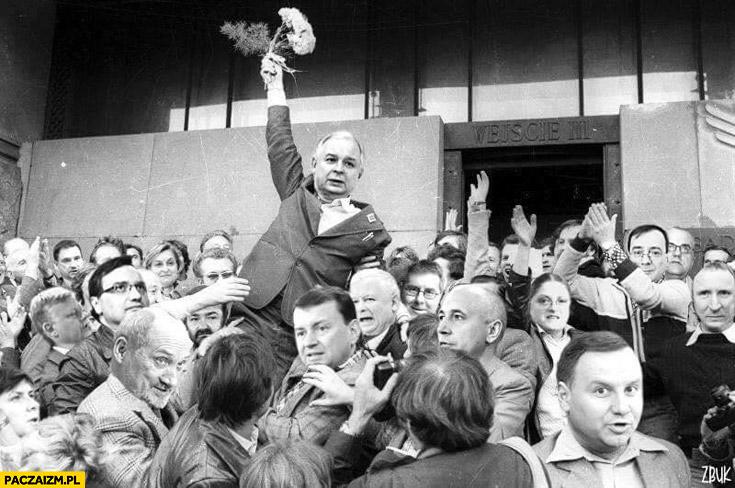 Kaczyśski Solidarność przeróbka Lech Wałęsa PiS