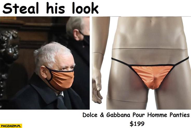 Kaczyński steal his look maseczka z majtek dolce and gabbana