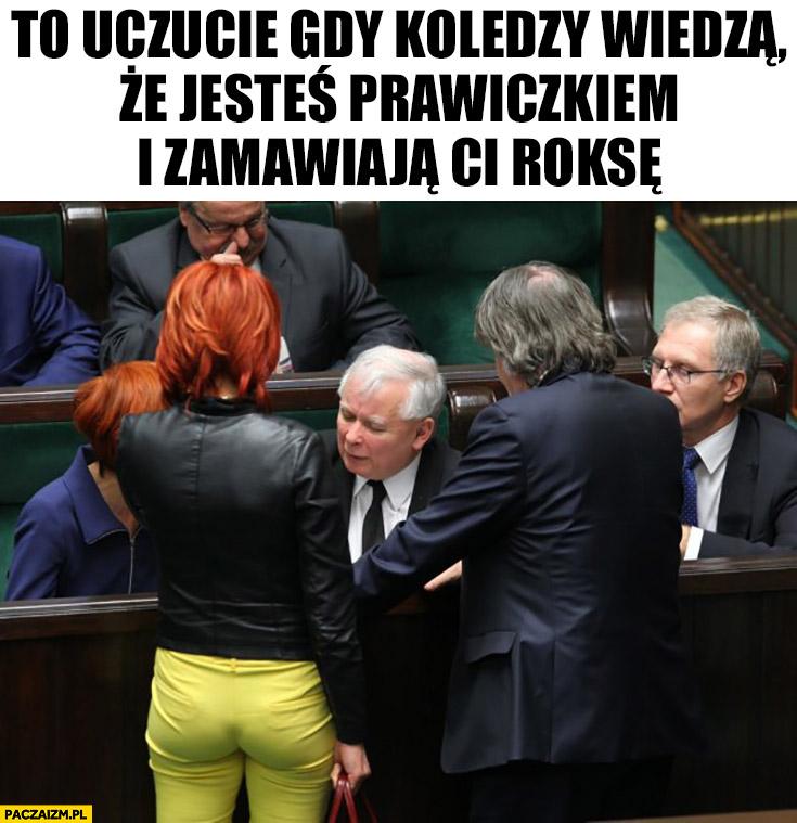 Kaczyński to uczucie gdy koledzy wiedzą, że jesteś prawiczkiem i zamawiają Ci roksę. Prostytutka w sejmie