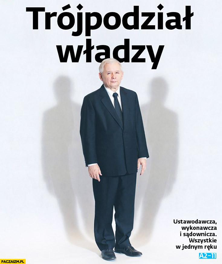 Kaczyński trójpodział władzy dwa cienie okładka gazety