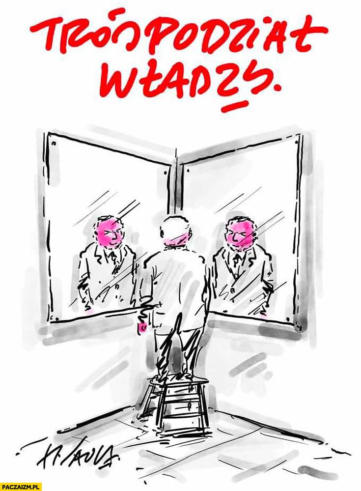 Kaczyński trójpodział władzy odbicia lustrzane Sawka