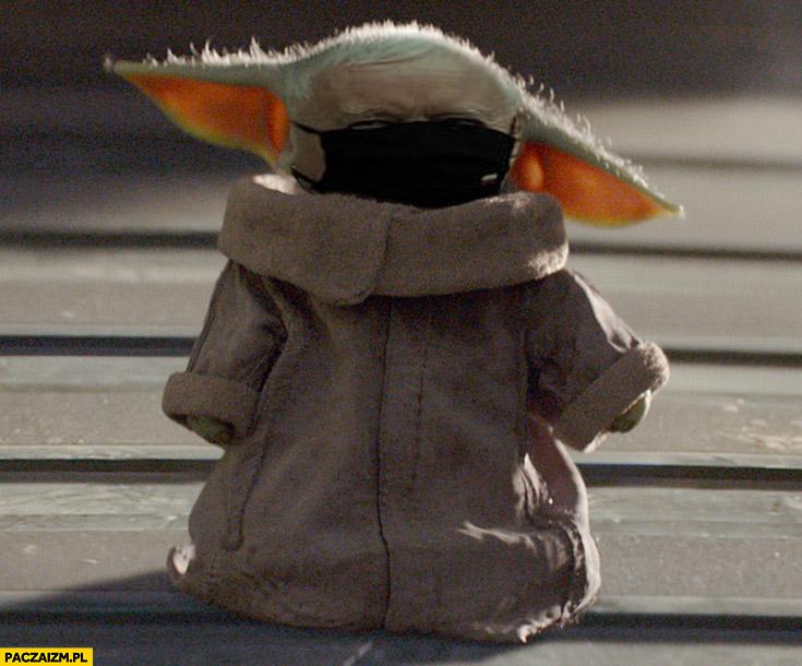 Kaczyński w maseczce baby Yoda przeróbka