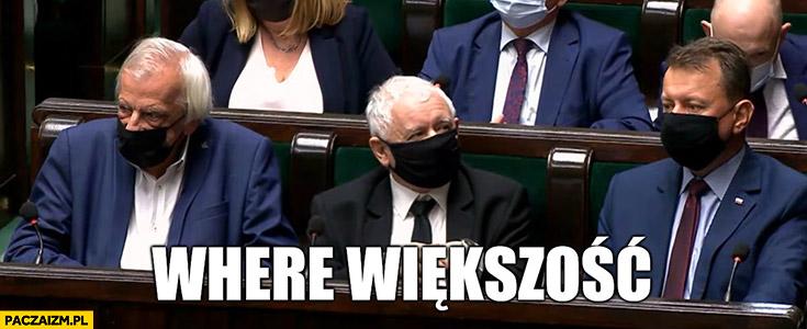Kaczyński where większość głosowanie w sejmie