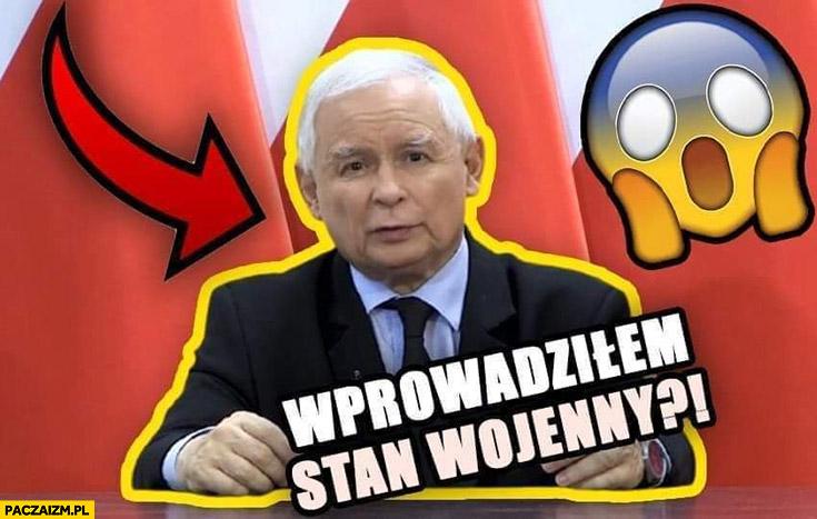 Kaczyński wprowadziłem stan wojenny grafika obrazek filmu na youtube