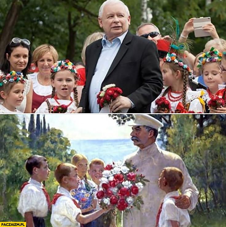 Kaczyński z dziećmi jak Stalin porównanie