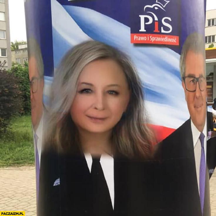 Kaczyński zamieniony na kobietę filtr na snapchacie