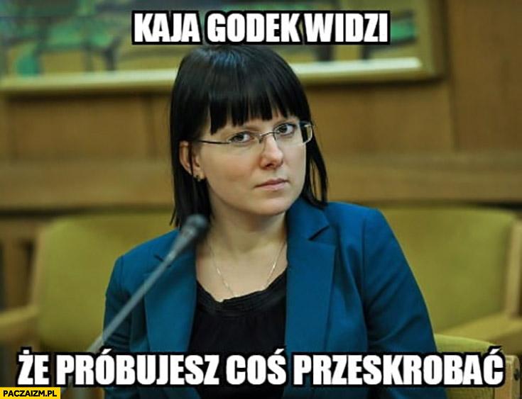 Kaja Godek widzi, że próbujesz coś przeskrobać