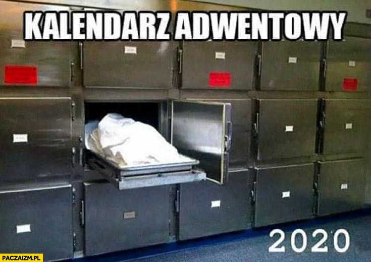 Kalendarz adwentowy 2020 zwłoki w kostnicy okienko okienka