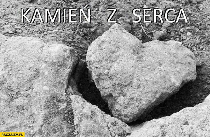 Kamień z serca w kształcie