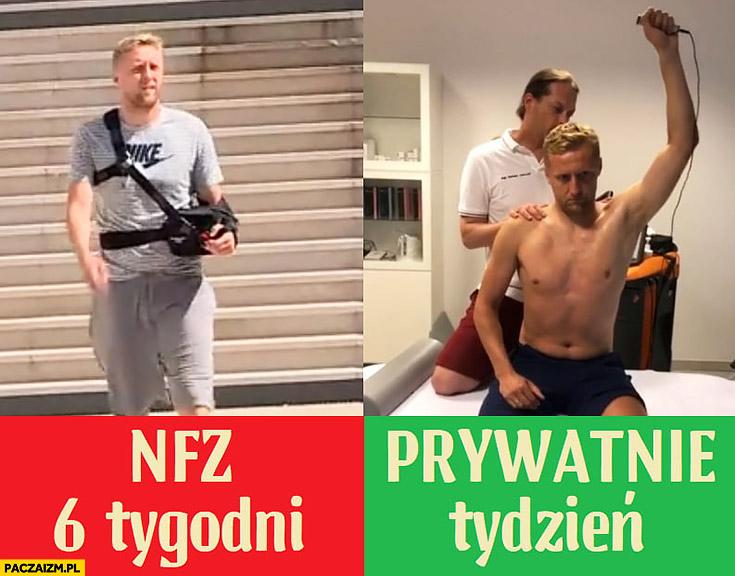 Kamil Glik rehabilitacja na NFZ 6 tygodni prywatnie tydzień