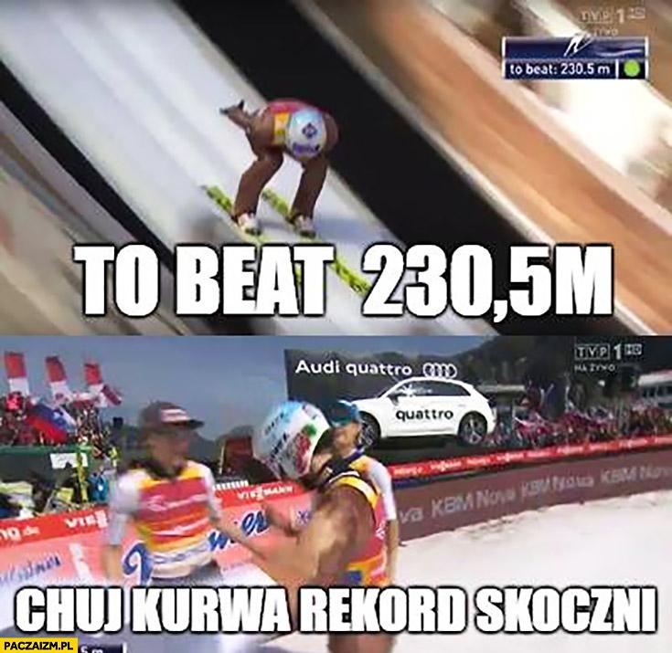 Kamil Stoch do pobicia 230,5 metra kij kurna rekord skoczni