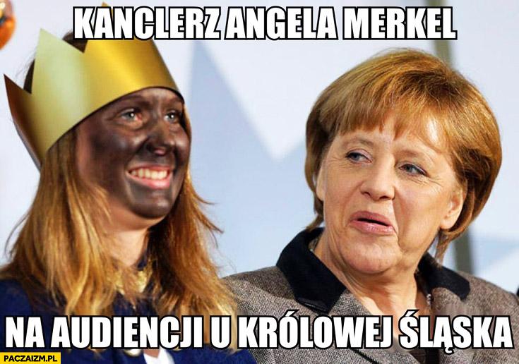 Kanclerz Angela Merkel na audiencji u królowej śląska