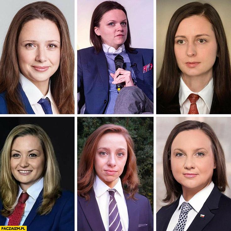 Kandydaci na prezydenta jako kobiety przeróbka photoshop