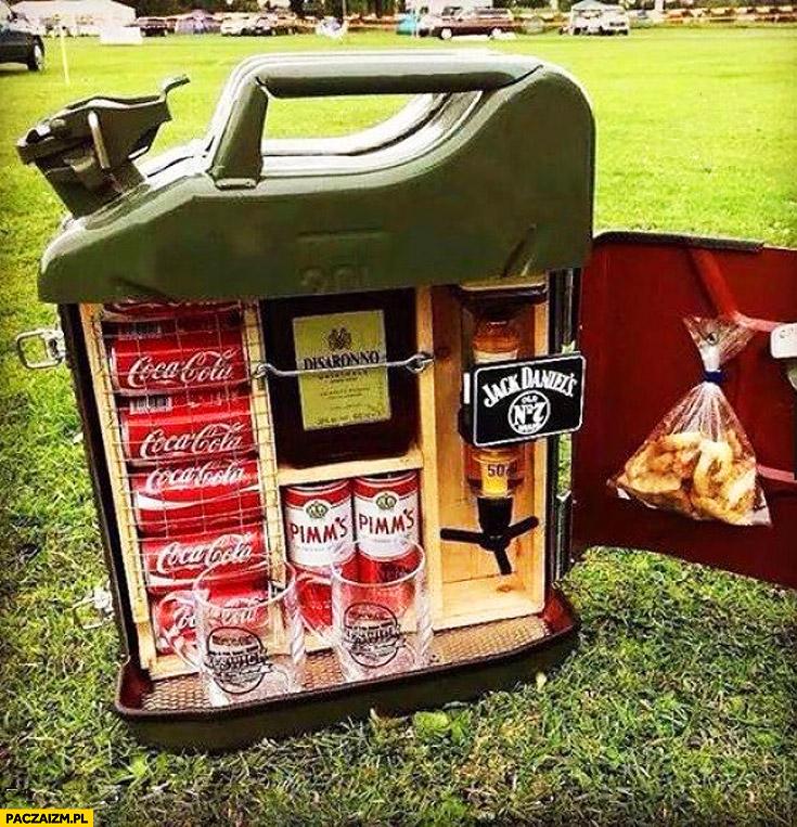Kanister z paliwem Cola Jack Daniels